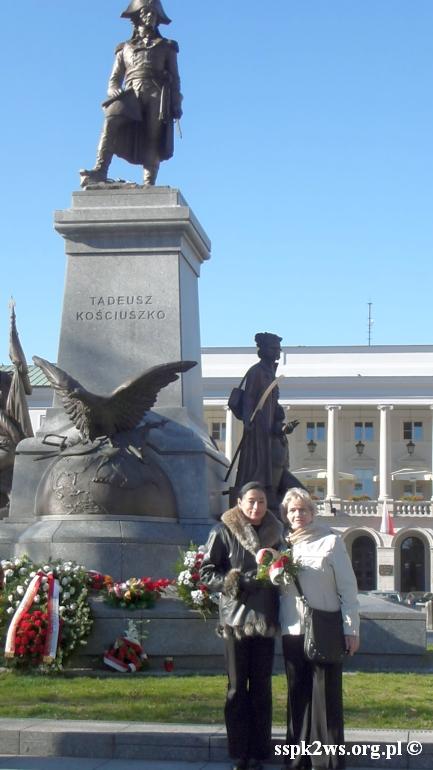 XXX Międzynarodowe Sympozjum Kościuszkowskie - Prezes ZG i Wiceprezes ZG pod Pomnikiem T. Kościuszki